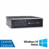 Calculator HP Compaq 6000  SFF, Intel Core 2 Duo E7500 2.93GHz, 4GB DDR3, 320GB SATA, DVD-RW + Windows 10 Home Calculatoare Refurbished