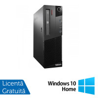 Calculator Lenovo Thinkcentre M93p Desktop, Intel Core i5-4570 3.20 GHz, 8GB DDR3, 500GB SATA, DVD-ROM + Windows 10 Home