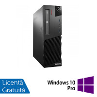 Calculator Lenovo Thinkcentre M93p Desktop, Intel Core i5-4570 3.20 GHz, 8GB DDR3, 500GB SATA, DVD-ROM + Windows 10 Pro