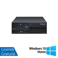 Calculator LENOVO ThinkCentre M58 SFF, Intel Core 2 Duo E8400 3.0 GHz, 2GB DDR3, 320GB SATA, DVD-ROM + Windows 10 Home