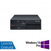 Calculator LENOVO ThinkCentre M58 SFF, Intel Core 2 Duo E8400 3.0 GHz, 2GB DDR3, 320GB SATA, DVD-ROM + Windows 10 Pro, Refurbished Calculatoare Refurbished