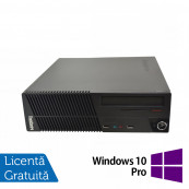Calculator Lenovo ThinkCentre M71e SFF, Intel Core i3-2100 3.10GHz, 4GB DDR3, 250GB SATA, DVD-ROM + Windows 10 Pro, Refurbished Calculatoare Refurbished