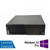 Calculator Lenovo ThinkCentre M71e SFF, Intel Pentium G630 2.70GHz, 4GB DDR3, 250GB SATA, DVD-RW + Windows 10 Pro, Refurbished Calculatoare Refurbished
