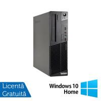 Calculator LENOVO Thinkcentre M72E Desktop, Intel Core I3-3220 3.30GHz, 4GB DDR3, 250GB SATA, DVD-RW + Windows 10 Home