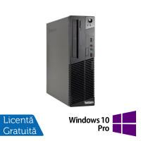 Calculator LENOVO Thinkcentre M72E Desktop, Intel Core I3-3220 3.30GHz, 4GB DDR3, 250GB SATA, DVD-RW + Windows 10 Pro