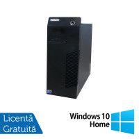 Calculator Lenovo Thinkcentre M72E Tower, Intel Core i3-2100 3.10GHz, 4GB DDR3, 250GB SATA + Windows 10 Home
