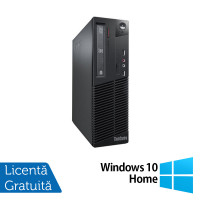 Calculator Lenovo Thinkcentre M73 SFF, Intel Core i7-4770 3.40GHz, 4GB DDR3, 500GB SATA, DVD-ROM + Windows 10 Home