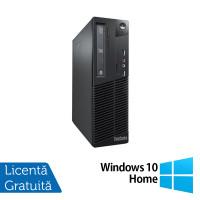Calculator Lenovo Thinkcentre M73 SFF, Intel Pentium G3250 3.20GHz, 4GB DDR3, 500GB SATA + Windows 10 Home