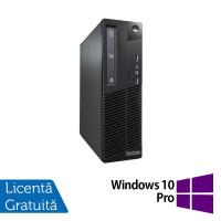 Calculator Lenovo Thinkcentre M73 SFF, Intel Pentium G3250 3.20GHz, 4GB DDR3, 500GB SATA + Windows 10 Pro