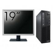 Pachet Calculator Lenovo Thinkcentre M73 SFF, Intel Core i5-4430 3.00GHz, 4GB DDR3, 500GB SATA + Monitor 19 Inch, Second Hand Oferte Pachete IT