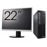 Pachet Calculator Lenovo Thinkcentre M73 SFF, Intel Core i5-4430 3.00GHz, 4GB DDR3, 500GB SATA + Monitor 22 Inch