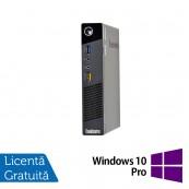Calculator Lenovo M73 USFF, Intel Pentium G1820, 4GB DDR3, 160GB SATA + Windows 10 Pro, Refurbished Calculatoare Refurbished