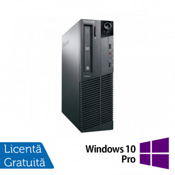 Calculator Lenovo M81 SFF, Intel Core i3-2100 3.10GHz, 4GB DDR3, 250GB SATA, DVD-ROM + Windows 10 Pro, Refurbished Calculatoare Refurbished