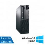Calculator Lenovo M81 SFF, Intel Core i3-2100 3.10GHz, 4GB DDR3, 250GB SATA, DVD-ROM + Windows 10 Home, Refurbished Calculatoare Refurbished