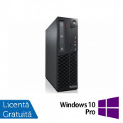 Calculator LENOVO ThinkCentre M82 SFF, Intel Core i3-2100 3.10GHz, 4GB DDR3, 250GB SATA, DVD-ROM + Windows 10 Pro, Refurbished Calculatoare Refurbished