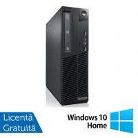 Calculator LENOVO ThinkCentre M82 SFF, Intel Pentium G620 2.60GHz, 4GB DDR3, 250GB SATA, DVD-ROM + Windows 10 Home