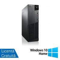 Calculator Lenovo Thinkcentre M83 SFF, Intel Core i3-4130 3.40GHz, 4GB DDR3, 250GB SATA + Windows 10 Home