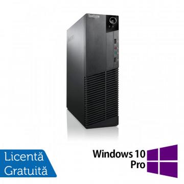 Calculator Lenovo Thinkcentre M83 SFF, Intel Core i3-4130 3.40GHz, 4GB DDR3, 250GB SATA + Windows 10 Pro, Refurbished Calculatoare Refurbished