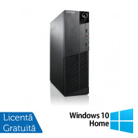 Calculator Lenovo Thinkcentre M83 SFF, Intel Core i3-4130 3.40GHz, 8GB DDR3, 120GB SSD, Placa video Gaming Geforce GTX 750/4GB GDDR5/128Bit + Windows 10 Home