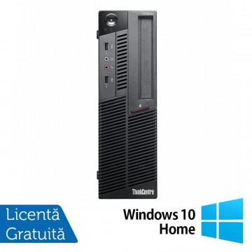 Calculator LENOVO M90 SFF, Intel Core i3-530 2.93GHz, 4GB DDR3, 320GB SATA, DVD-RW + Windows 10 Home, Refurbished Calculatoare Refurbished