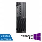 Calculator LENOVO M90 SFF, Intel Core i3-530 2.93GHz, 4GB DDR3, 320GB SATA, DVD-RW + Windows 10 Pro, Refurbished Calculatoare Refurbished