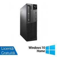 Calculator LENOVO Thinkcentre M91P SFF, Intel Core i5-2400 3.10GHz, 4GB DDR3, 250GB SATA, DVD-ROM + Windows 10 Home