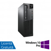Calculator LENOVO Thinkcentre M91P SFF, Intel Core i5-2400 3.10GHz, 4GB DDR3, 250GB SATA, DVD-ROM + Windows 10 Pro, Refurbished Calculatoare Refurbished