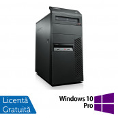 Calculator LENOVO M90 Tower, Intel Core i3-540 3.06 GHz, 4GB DDR3, 500GB SATA, DVD-RW + Windows 10 Pro, Refurbished Calculatoare Refurbished