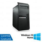 Lenovo ThinkCentre M81 Tower, Intel Core i3-2100 3.10GHz, 4GB DDR3, 500GB SATA, DVD-RW + Windows 10 Home, Refurbished Calculatoare Refurbished