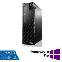 Calculator Lenovo Thinkcentre M93p SFF, Intel Core i5-4570 3.20GHz, 4GB DDR3, 500GB SATA, DVD-RW + Windows 10 Pro
