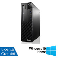 Calculator Lenovo Thinkcentre M93p SFF, Intel Core i5-4690T 2.50GHz, 8GB DDR3, 120GB SSD, Placa video Gaming Geforce GTX 750/4GB GDDR5/128Bit, DVD-RW + Windows 10 Home