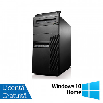 Lenovo ThinkCentre M81 Tower, Intel Core i5-2400 3.10GHz, 4GB DDR3, 500GB SATA, DVD-RW + Windows 10 Home, Refurbished Calculatoare Refurbished