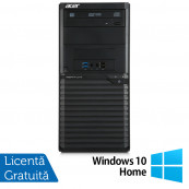 Calculator Acer Veriton M2632 Tower, Intel Core i5-4460S 2.90GHz, 4GB DDR3, 500GB SATA, DVD-RW + Windows 10 Home, Refurbished Calculatoare Refurbished