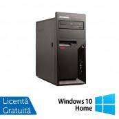 Calculatoare Refurbished Lenovo Thinkcentre M58p Tower, Intel Core 2 Duo E8400, 3.00Ghz, 2GB DDR3, 160GB HDD, DVD-ROM + Windows 10 Home Calculatoare Refurbished