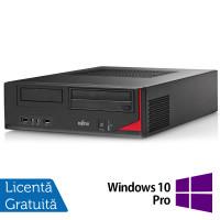 Calculator FUJITSU SIEMENS E410 Desktop, Intel Core i3-3220 3.30GHz, 4GB DDR3, 250GB SATA, AMD Radeon R5 240 1GB DDR3, DVD-RW + Windows 10 Pro