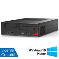 Calculator FUJITSU SIEMENS E410 Desktop, Intel Core i3-3220 3.30GHz, 4GB DDR3, 250GB SATA, Radeon HD7470 1GB GDDR3, DVD-RW + Windows 10 Home