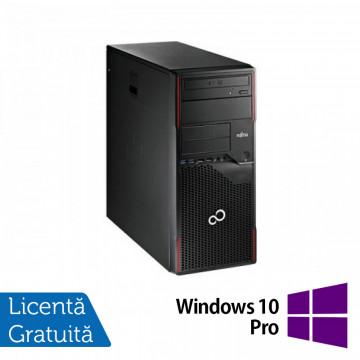 Calculator FUJITSU SIEMENS Esprimo P700 Tower, Intel Pentium G840 2.80GHz, 4GB DDR3, 250GB SATA, DVD-ROM + Windows 10 Pro Calculatoare Refurbished