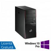 Calculator FUJITSU SIEMENS Esprimo P710 Tower, Intel Core i3-3220 3.30GHz, 4GB DDR3, 250GB SATA, DVD-ROM + Windows 10 Pro Calculatoare Refurbished