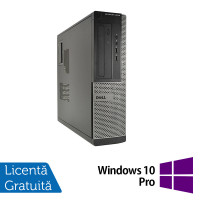 Calculator DELL OptiPlex 3010 Desktop, Intel Pentium G2030 3.00GHz, 4GB DDR3, 250GB SATA + Windows 10 Pro