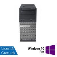 Calculator Dell OptiPlex 3010 Tower, Intel Core i3-3240 3.40GHz, 4GB DDR3, 500GB SATA, DVD-RW + Windows 10 Pro