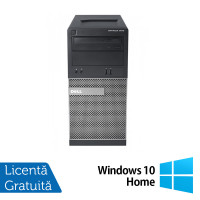 Calculator Dell OptiPlex 390 Tower, Intel Core i3-2100 3.10GHz, 4GB DDR3, 500GB SATA, DVD-RW + Windows 10 Home