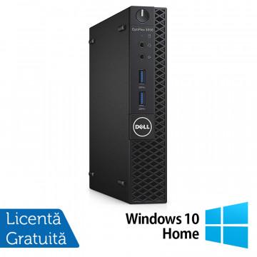Calculator DELL Optiplex 3060 MiniPC, Intel Core i3-8100T 3.10GHz, 4GB DDR4, 500GB SATA + Windows 10 Home, Refurbished Calculatoare Refurbished