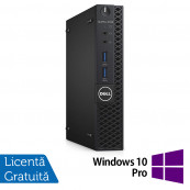 Calculator DELL Optiplex 3060 MiniPC, Intel Core i3-8100T 3.10GHz, 4GB DDR4, 500GB SATA + Windows 10 Pro, Refurbished Calculatoare Refurbished