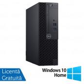 Calculator DELL OptiPlex 3060 SFF, Intel Gen 8 Hexa Core i5-8500 3.00GHz, 8GB DDR4, 240GB SSD, DVD-RW + Windows 10 Home, Refurbished Calculatoare Refurbished