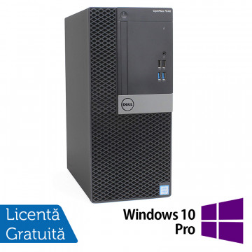 Calculator DELL OptiPlex 7040 Tower, Intel Core i5-6500 3.20GHz, 8GB DDR4, 240GB SSD, DVD-RW + Windows 10 Pro, Refurbished Calculatoare Refurbished