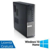 Calculator DELL GX790 Desktop, Intel Core i3-2100 3.10 GHz, 4GB DDR3, 500GB SATA, DVD-ROM + Windows 10 Home