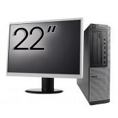 Pachet Calculator DELL 790 Desktop, Intel Core i5-2400 3.10GHz, 4GB DDR3, 250GB SATA, DVD-ROM + Monitor 22 Inch, Second Hand Oferte Pachete IT