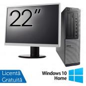 Pachet Calculator DELL 790 Desktop, Intel Core i5-2400 3.10GHz, 4GB DDR3, 250GB SATA, DVD-ROM + Monitor 22 Inch + Windows 10 Home, Refurbished Oferte Pachete IT