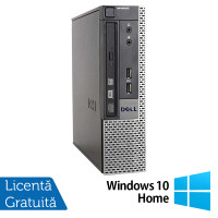 Calculator Dell 9010 USFF, Intel Core i5-3470S 2.90GHz, 4GB DDR3, 500GB SATA, DVD-RW + Windows 10 Home