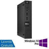 Calculator Dell OptiPlex 9020 Micro PC, Intel Core i3-4160T 3.10GHz, 4GB DDR3, 500GB SATA + Windows 10 Pro